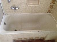 צביעת אמבטיה לפני